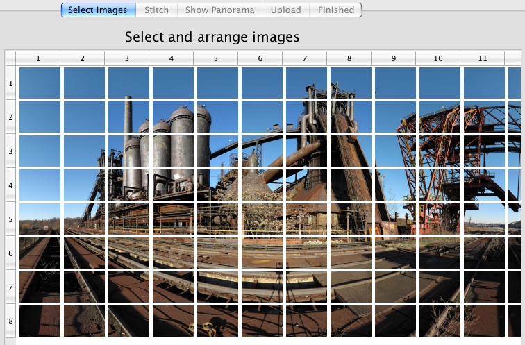 A bad image grid; not enough overlap