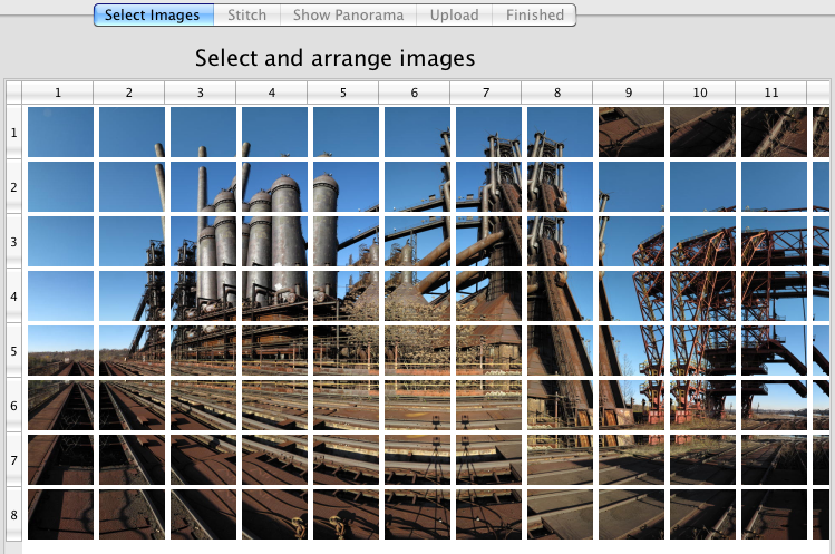 An image grid with good overlap, properly set up.