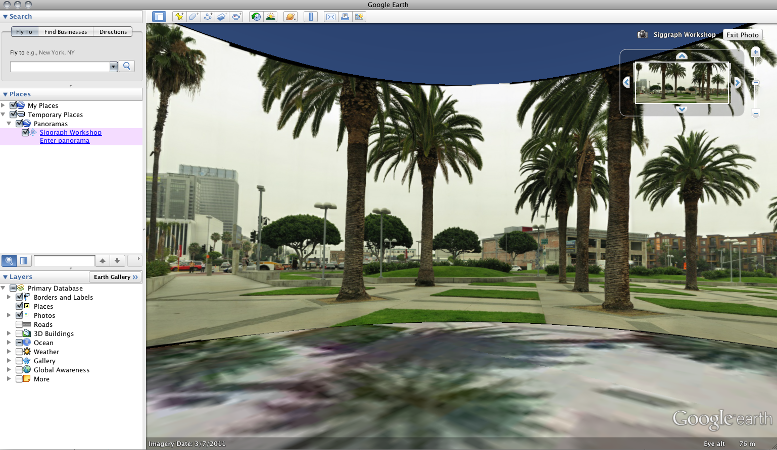 Panorama in Google Earth